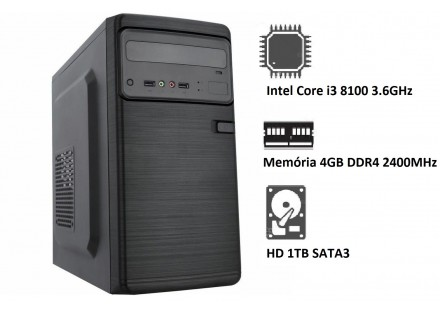 COMPUTADOR STOK INTEL CORE i3 9100F 3.6GHz - 4GB - 1TB