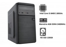 COMPUTADOR STOK INTEL CORE i5 8400 2.80GHz - 4GB - SSD 120GB
