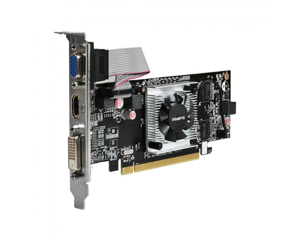 PLACA DE VIDEO PCI-E AMD RADEON R5 230 2GB DDR3 64B LP