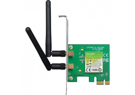 PLACA PCI EXPRESS TP-LINK WIRELESS N 2 ANTENAS 300MBPS 2.4GHZ - TL-WN881ND