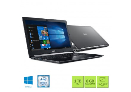 NOTEBOOK ACER A515-51-75RV INTEL CORE I7 7500U - 8GB - 1TB - 15.6 - WINDOWS 10 HOME