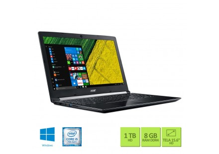NOTEBOOK ACER A515-51G-58VH INTEL CORE I5 7200U - 8GB - 1TB - 15.6 - GEFORCE 940MX 2GB - WINDOWS 10 HOME
