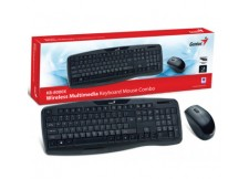 KIT WIRELESS TECLADO MULTIMIDIA E MOUSE KB-8000X USB GENIUS
