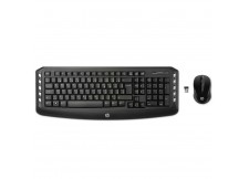 KIT WIRELESS TECLADO E MOUSE PRETO 300 USB 3ML04AA#AC4 HP